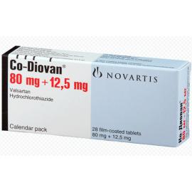 Купить Ко-Диован CODIOVAN 80 mg/12,5 mg/98 Шт в Москве