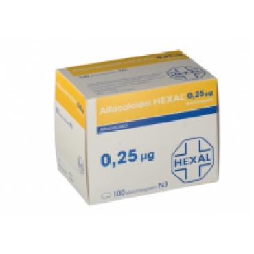 Купить Альфакальцидол ALFACALCIDOL HEXAL 0.25 MG 100st в Москве