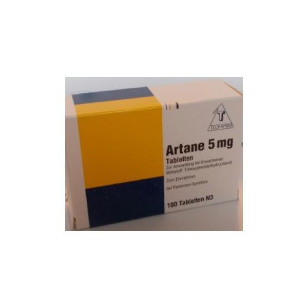 Артане (Тригексифенидил)  Artane 5 мг/100 таблеток