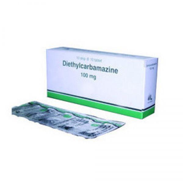 Диэтилкарбамазин Diethylcarbamazine 100 мг/360 шт