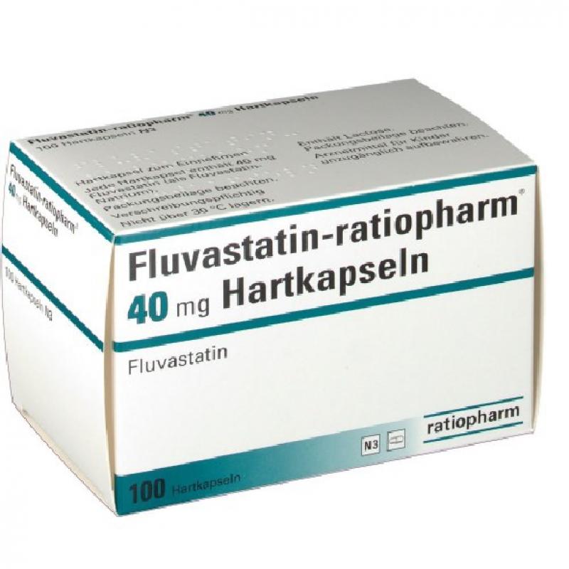Флувастин FLUVASTATIN 40MG - 100 Шт