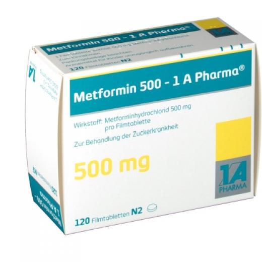 Купить Метформин METFORMIN 500MG - 180 Шт в Москве