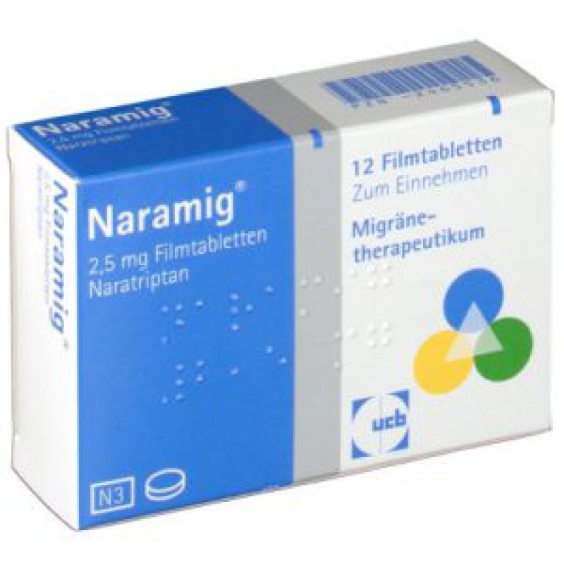 Нарамиг Naramig  2,5 мг/12 таблеток