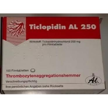 Купить Тиклопидин TICLOPIDIN 250 - 100 Шт в Москве
