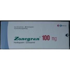 Купить Зонегран Zonegran 100 мг/28 капсул   в Москве