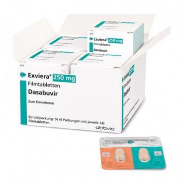 Купить Эксвиера Exviera (Дасабувир) 250 мг/56 таблеток в Москве