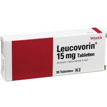 Купить Лейковорин Leucovorin 15 mg / 30 штук в Москве