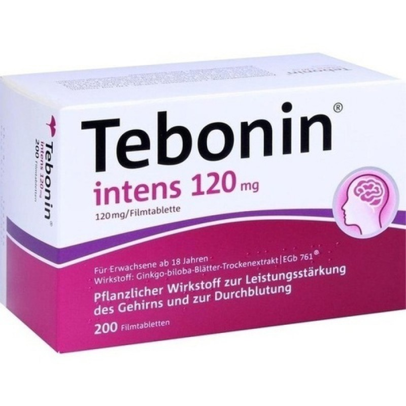 Тебонин Tebonin Intens 120MG 200 Шт.