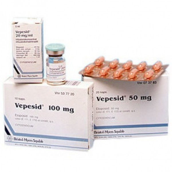 Вепезид Vepesid 50 мг/20 капсул