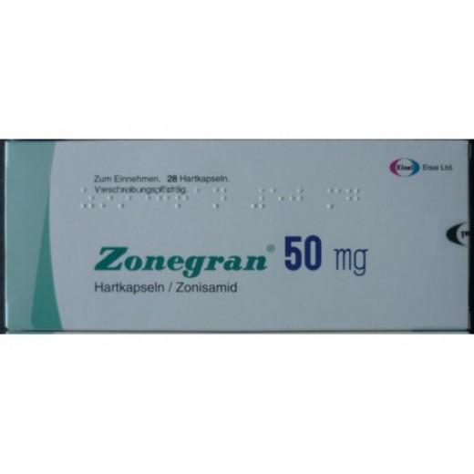 Купить Зонегран Zonegran 50 мг/28 капсул   в Москве