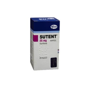 Купить Сутент Sutent 25 мг/30 капсул в Москве