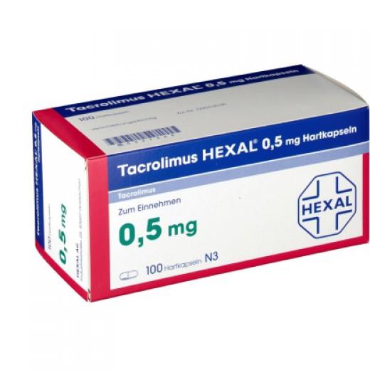 Купить Такролимус Tacrolimus HEXAL 0,5MG/100 шт в Москве